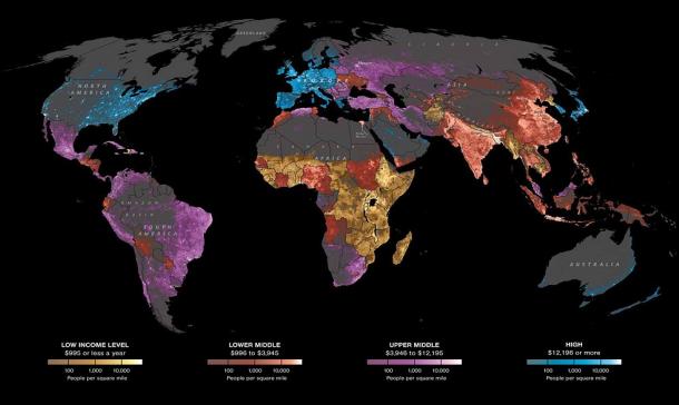 distribuzione mondiale reddito